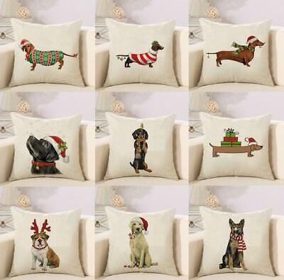 £3.49 • Buy Dachshund Dog Cushion Cover Christmas Pillow Cover Sausage Dog Pillow Case