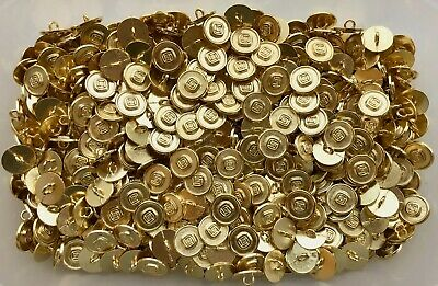 $1.38 • Buy Small 15mm 24L Gold Metal Geometric Shank Costume Craft Button Buttons (L17)