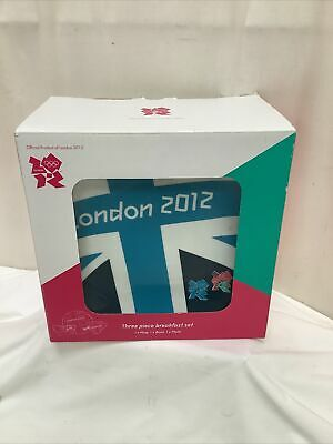 £29.95 • Buy 2012 London Olympics Boxed 3 Piece Breakfast Set Official Memorabilia Product