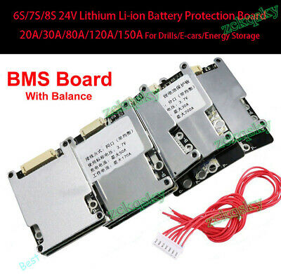 AU28.60 • Buy 6S 7S 24V Lithium Battery Protection BMS Board W/ Balance