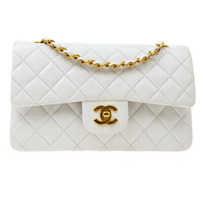 £4769.13 • Buy CHANEL Classic Double Flap Small Chain Shoulder Bag 3782763 White Leather 80254