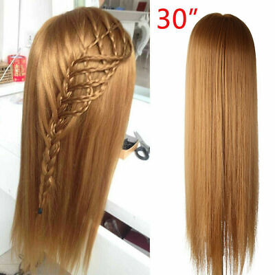 30'' Salon Hair Styling Hairdressing Practice Doll Head Training Mannequin Clamp • 12.29£