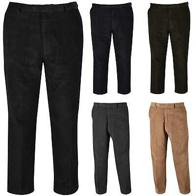£9.99 • Buy Mens Corduroy Cord Trousers Belted Formal Smart Casual Cotton Big Sizes Pants