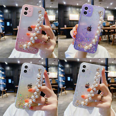 AU8.18 • Buy For IPhone 12 Pro Max 11 XR XS 7 8 Plus Bling Glitter Star Girls Clear TPU Case