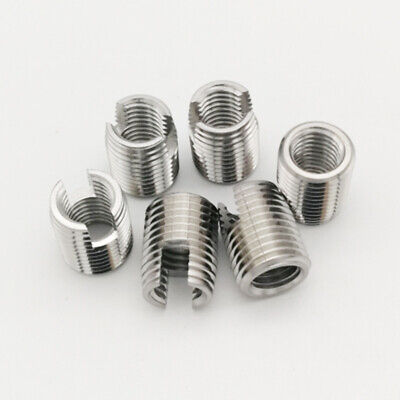 £5.29 • Buy Stainless Steel Slotted Self Tapping Threaded Inserts Nuts M3 M4 M5 M6 M8 Sets