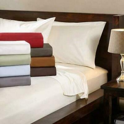 £57.99 • Buy Extra Deep Fitted Sheet 16 /40CM 100%Egyptian Cotton 1000TC All Size Solid Color