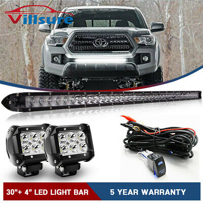 $74.99 • Buy 32  LED Light Bar W/Wiring Kit For 05-18 Toyota Tacoma Front Grille Bumper Mount