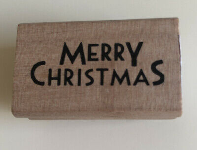 £4 • Buy East Of India Wooden Rubber Stamp Merry Christmas Brand New