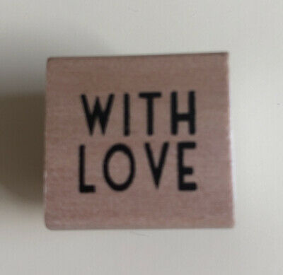 £2.50 • Buy East Of India Wooden Rubber Stamp With Love Brand New