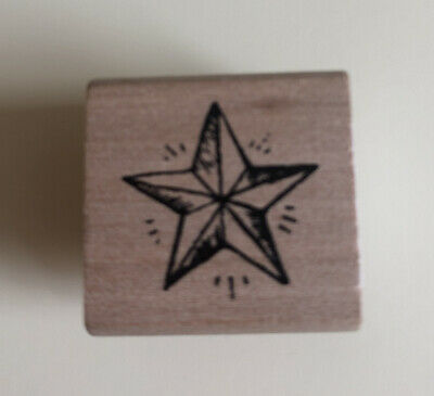 £2.50 • Buy East Of India Wooden Rubber Stamp Star Brand New