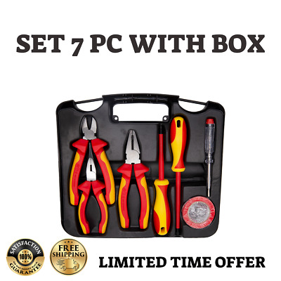 £39.92 • Buy New Set 7 Pc Plier Cutter Wire Snipe Nose Long Screwdriver Vde Tool High Qualit