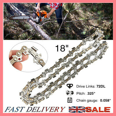 £9.58 • Buy 18inch 72 Drive Links Chainsaw Saw Chain Parts Tool Chainsaw Blade 0.058''