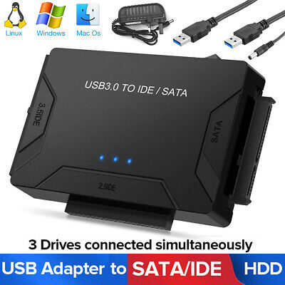 AU31.59 • Buy USB 3.0 To 2.5''/3.5  IDE SATA Hard Drive External Adapter Cable Kit Converter