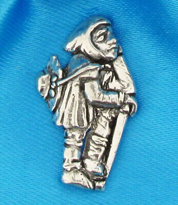 £6.99 • Buy Medieval Pilgrim Silver Pewter Pin Badge With A Satin Gift Bag
