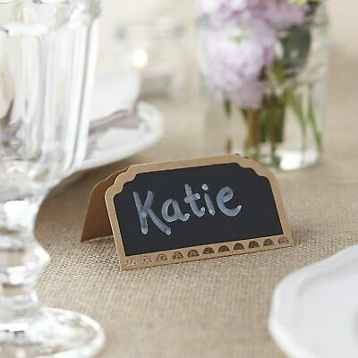 £3.95 • Buy Ginger Ray 10 X Chalkboard Place Cards Wedding Engagement Birthday Party Rustic