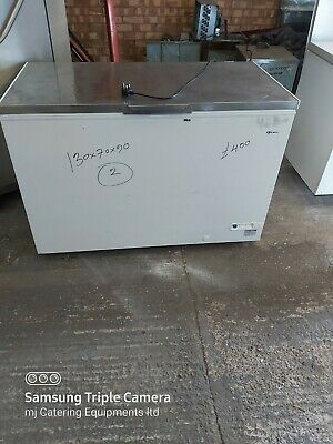 £395 • Buy Gram Commercial Chest Freezer Steal Solid Work Top White 130cm 447 Liter Used