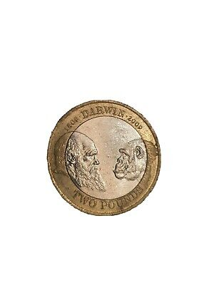 £570 • Buy Charles Darwin 2 Pound Coin £2 Coins Rare Circulated 2009 Minting Error (4k)