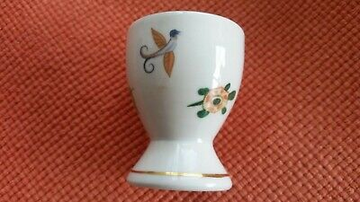 £5.25 • Buy Vintage Egg Cup Butterfly Exotic Bird Turtle Florals Makers Name To Base
