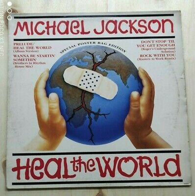 £12.76 • Buy Michael Jackson – Heal The World (Special Poster Bag Edition) UK 1992 12
