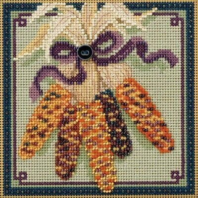 $12.99 • Buy Mill Hill Buttons & Beads Counted Cross Stitch Kit Harvest Corn MH141721