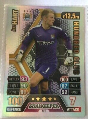£4 • Buy Match Attax Joe Hart 100 Club 13/14 MANCHESTER CITY (VERY GOOD CONDITION)