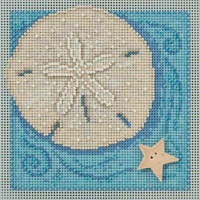 $12.99 • Buy Mill Hill 2016 Spring Buttons & Beads Counted Cross Stitch Kit ~ Sand Dollar ~