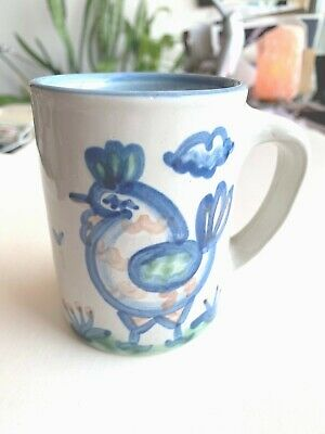 $14.99 • Buy Vintage Signed MA Hadley Pottery Country Farm Scene Mug Cup - Rooster