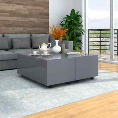 £176.99 • Buy VidaXL Coffee Table High Gloss Grey Home Couch Table Storage Tea Side Stand