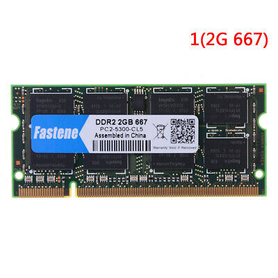 £6.10 • Buy Laptop Notebook 2GB DDR2 PC2-6400 667MHZ 800MHZ RAM Memory Une1n