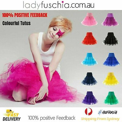 AU14.75 • Buy Women Tutu Skirt Lady Vintage Petticoat Tulle Dress 50s Underskirt Ballet Skirts