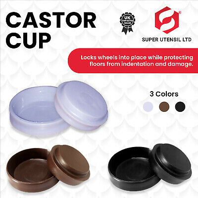 £5.49 • Buy 16 X THICK RUBBER CASTOR CUPS FLOOR PROTECTOR Furniture Carpet/Wood Sofa/Chair