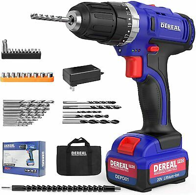 View Details DEREAL Pro 20V Electric Screwdriver Cordless Drill Power Driver Tools Set 3/8  • 31.99$