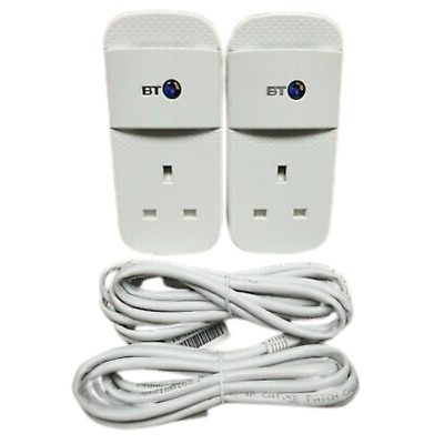 £24.99 • Buy 2 X BT Mini Connectors V2 VERSION 2 1000Mbps  1GB Powerline Adapters Homeplugs