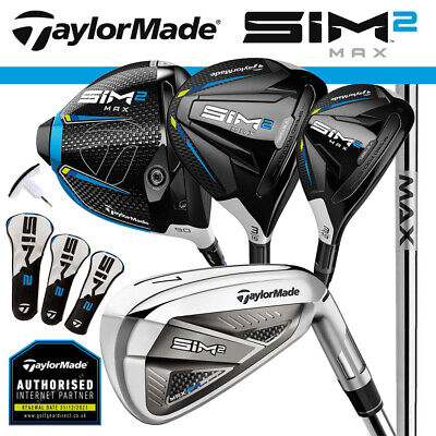 AU2526.42 • Buy TaylorMade SIM 2 Max Men's Golf Package Set Steel (Driver+3W+4H+5-SW) NEW! 2021