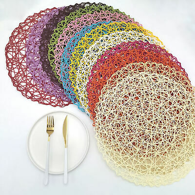 AU3.98 • Buy Placemats Bowl Plate Mat Washable Dining Kitchen Table Wedding Cafe Mat New