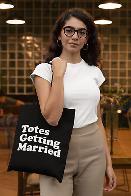 £6.99 • Buy Totes Getting Married Lightweight Cotton Tote Bag Bride To Be Fiancee Hen Party
