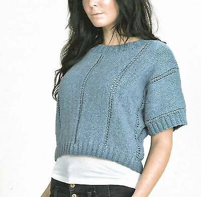 £1.50 • Buy Knitting Pattern Ladies Crop  Top  Sizes 32 To 42 Inch Double Knitting