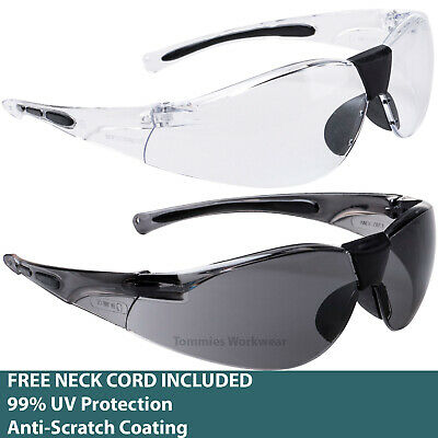 £6.19 • Buy Sports Safety Specs PPE Glasses FREE CORD INC. Side Protection Anti Scratch UV