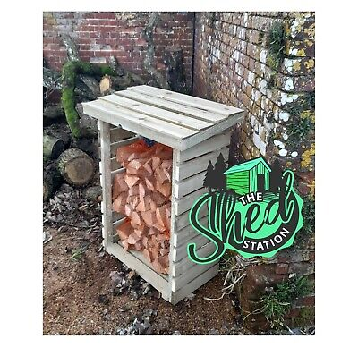 £55 • Buy Log Store Extra Thick Timbers Pressure Treated In Stock 1000mm+ Tall
