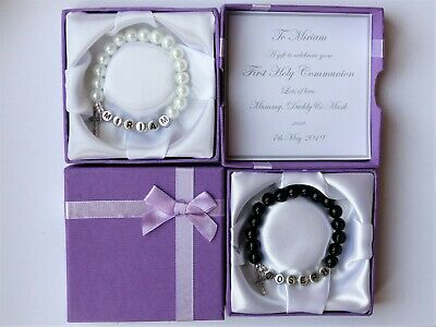 £8.49 • Buy 1st Holy Communion Gifts For Boys. Personalised Bracelet. First Communion #
