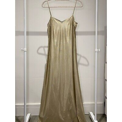 £8.99 • Buy Vintage Sheer Gown Maxi Dress Size S M L 10 12 One Size Summer Glam