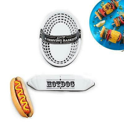 £5.99 • Buy Hot Dog Tray And Food Baskets Outdoor Dining BBQ Garden Party Alfresco Dining