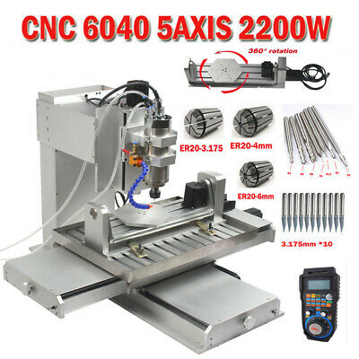 $3200 • Buy CNC 6040 5axis Router 2.2KW Mach3 USB Carving Engraving Milling For Aluminum US