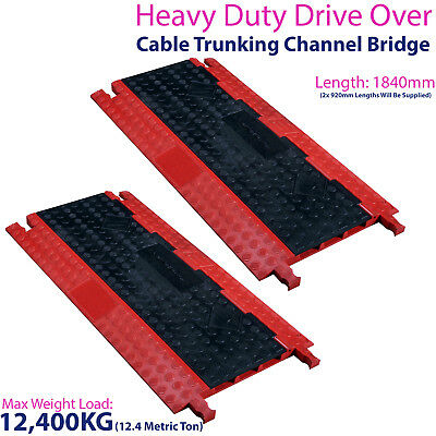 £299.99 • Buy 2x 12,400KG 3 Channel Drive Over Cable Protector-Outdoor Trunking Bridge Ducting