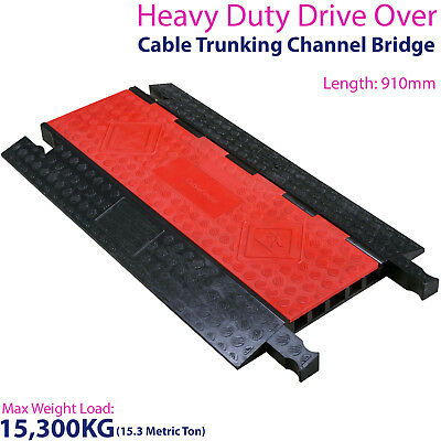 £229.99 • Buy 15,300KG 5 Channel Drive Over Cable Protector - Outdoor Trunking Bridge Ducting