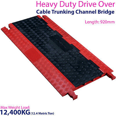 £159.99 • Buy 12,400KG 3 Channel Drive Over Cable Protector - Outdoor Trunking Bridge Ducting