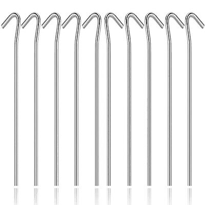 £2.99 • Buy Heavy Duty Galvanized Steel Tent Pegs Metal Camping Ground Sheet Anchor UK