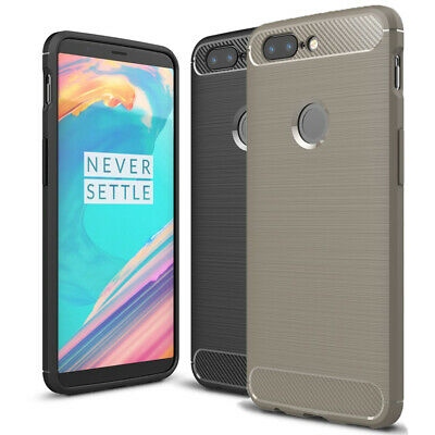 AU10.21 • Buy Cover For OnePlus 5T Carbon Brushed TPU Shell Bumper Phone Case Back Silicone