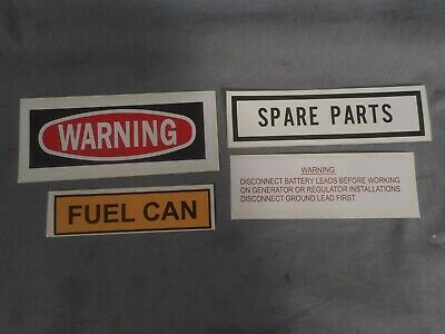 $7.95 • Buy M151 M998 M35 Labels:WARNING FUEL CAN DISCONNECT BATTERY SPARE PARTS M38 MB Jeep
