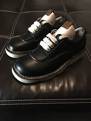 $74.99 • Buy Coach Leather Trooper Black Ivory Shoes Men's Size 7 G1744